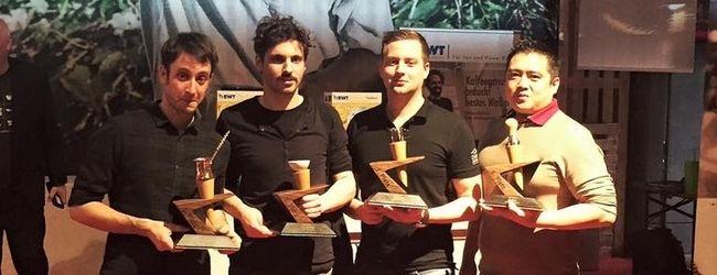 v.l.: Die Gewinner: Valentin Freyler, Boris Ortner, Benjamin Graf und Christian Aramburo
